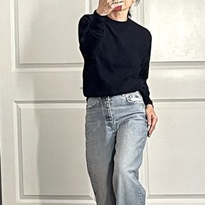 N Peal Vintage Navy Cashmere Sweater size 38